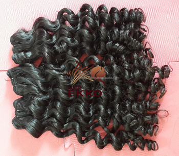 Wholesale price for High quality human hair weaving deep curly machine weft hair Brazilian human hair