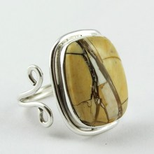 Inca Dream !! Yellow Mookaite 925 Sterling Silver Free Size Ring, Unique 925 Sterling Silver Jewelry, 925 Wholesale Ring