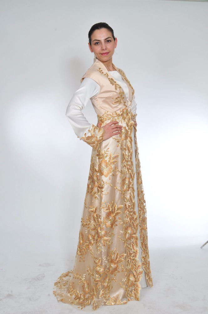 2 piece Arabic evening dress new model