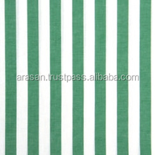 100% COTTON WOVEN YARN DYED STRIPPED FABRIC