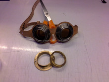 BRASS GOGGLES WITH LEATHER STRAPS