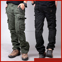 Cargo Pants-Wholesale Cheap Workwear Mens Military Tactical Style Loose Fit Straight Leg Cargo Pants with Side pockets