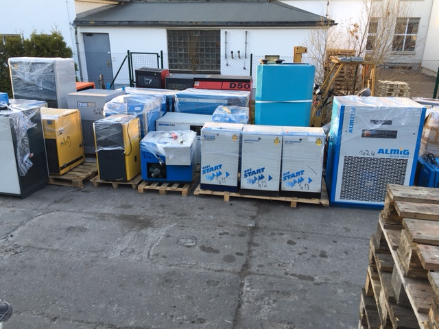 German ATLAS COPCO, BOGE, KAESER Screw Air Compressors