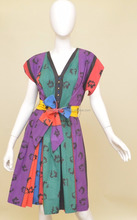 Beautiful African Print Wax Women Dress 100%Cotton well made size /Vintage short sexy multy colour sundress
