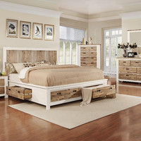 Solid Wood Bedroom Furniture With Scratched