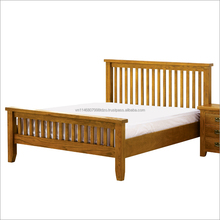 LCL ORDER ACCEPTED HOME OR HOTEL WOODEN BED LOW MOQ OAK FURNITURE