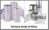 Various types of freshness preserve food packaging plastic roll film