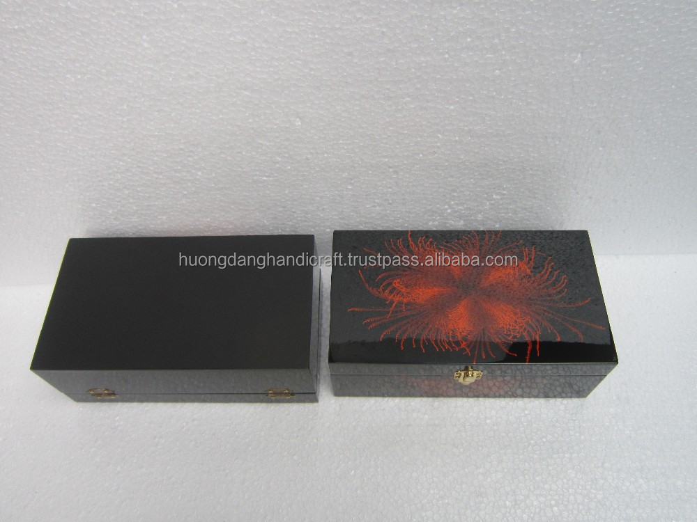 Lacquer box with orange firework pattern outside/various design/custom perfume box