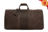 Genuine brown leather slim travel bag best quality duffel bag