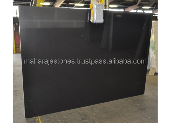 Indian Jet Black Polished Granite Slab