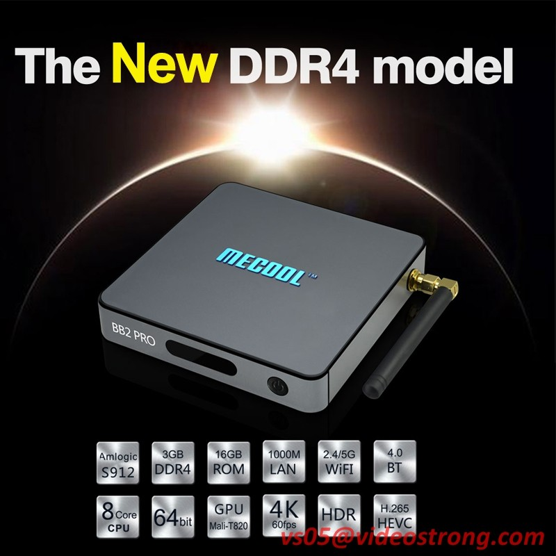 New! DDR4 3GB Amlogic S912 Octa Core tv box bb2 pro