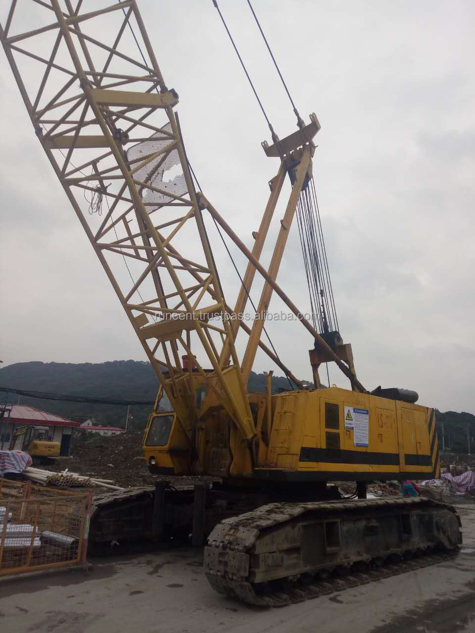 Used crawler crane Japan IHI CCH800 80 ton crane for sale