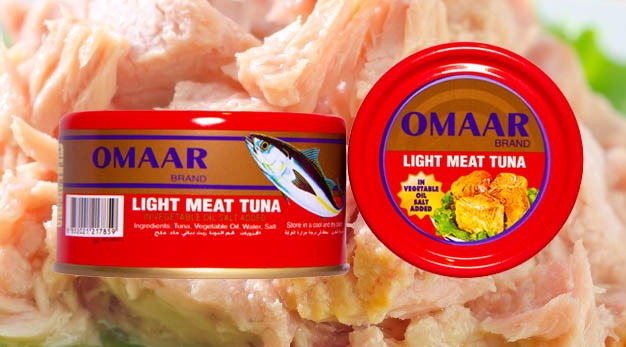 Omaar Tuna - Light Meat Tuna in Vegetable Oil 185 gr