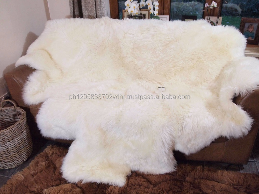 High Quality Long Hair Mongolian Lamb Fur Skin / Dye Sheep Fur Plate