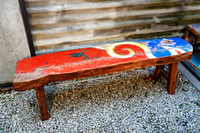 Beautiful reclaimed boat bench