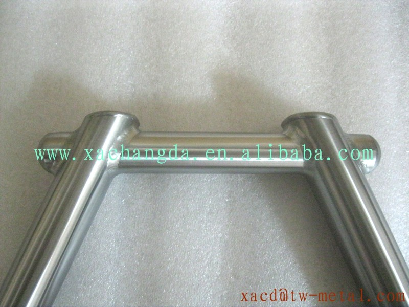 titanium bike handlebar with handing brush finished BMX bike handlebar