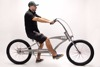 "Micano Bronx Long - Chopper Cruiser Beach Bike 26"" High Quality American Style Gray"