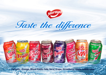 325ml aluminium shrink wrapped half tray Carbonated Drinks, Flavoured Soda,
