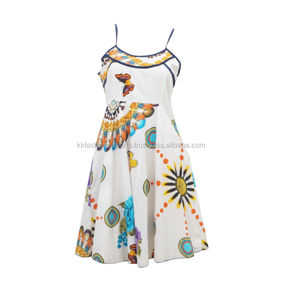 Wholesale Multicolor Flower Printed Dress for Women