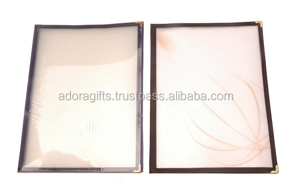 China suppliers best selling products using quality restaurants and hotels PET transparent menu cover