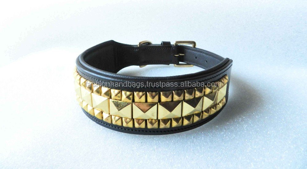 Bling Rhinestone Crystal Leather Dog Collar