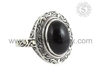 Perfect Black Onyx 925 Sterling Silver Ring Best Collection Silver Gemstone Jewelry For Wholesaler RNCB15-1110-9