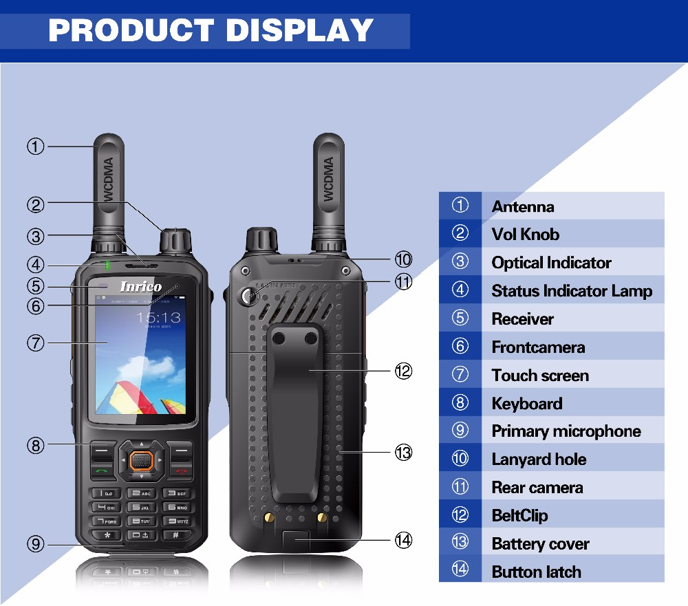 Inrico T298s Wcdma Phone Zello Android Walkie Talkie Ptt