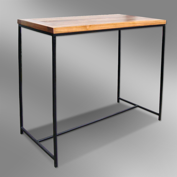 Teak Combination Metal Modern Bar Table - Makassar Design