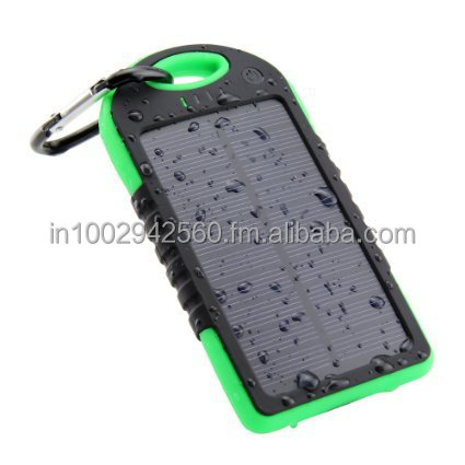 Waterproof Solar Power Bank 5000 mAh