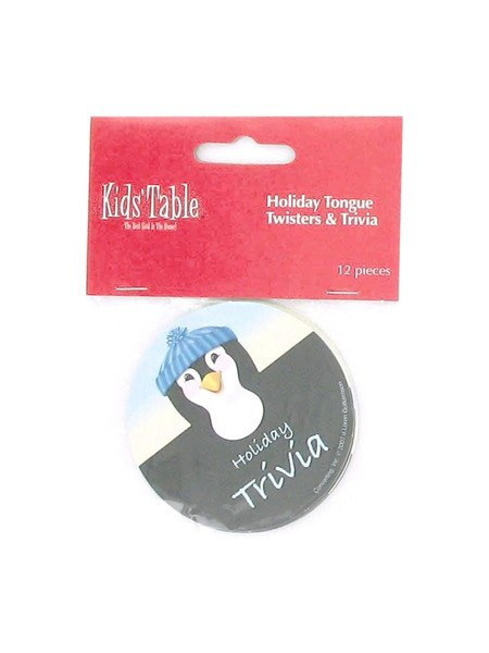 Holiday Fun penguin tongue twisters and trivia, pack of 12