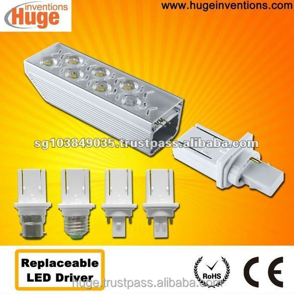 Reliable GX23 led bulb light with replaceable driver & 3 years warranty