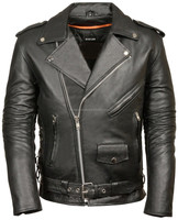 genuine cowhide leather motorcycle biker jacket comes with six pockets: one deep front chest pocket one front pocket with a flat