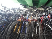 Used Mountain bikes and other types of bicycles