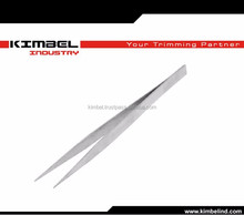 long silver pointy tweezers/ stainless steel straight pointed tweezers