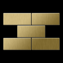 Mosaic massiv metal Titanium Gold brushed gold 1,6mm thick Article Subway-Ti-GB Collection Subway by ALLOY