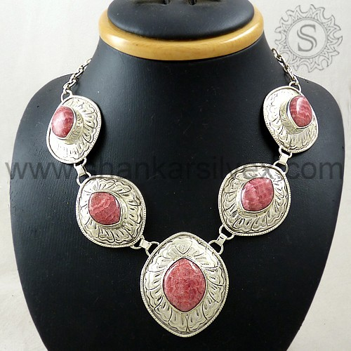 Eye Catching Silver Jewelry Necklace, Reasonable Price Wholesaler Silver Jewelry NKCB1028-1