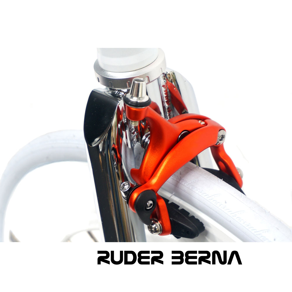 Ruder Berna Eightper Taiwan Made 700C Gamma Frame White Fixed Gear
