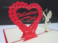Heart (Valentine's day) Love 3d greeting pop up card