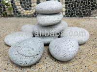 NATURAL FLAT SILVER GREY PEBBLE STONE (Shiranami)