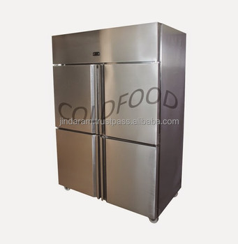 cold food four door vertical chiller refrigerator small 930 liter capacity