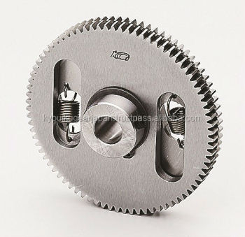 Anti backlash ground spur gear Module 0.8 Chromium molybdenum steel Made in Japan KG STOCK GEARS