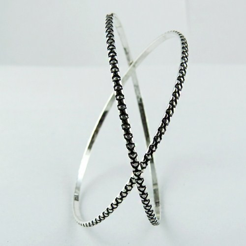 Awesome Honey !! Embossing Work Oxidized Silver 925 Sterling Silver Bangle, Express Delivery !! Discounted Prices