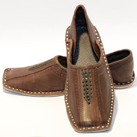 NEW ARRIVAL Pure leather Very Soft HANDMADE Shoes,Khussa footwear for men Size US-8