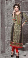 Punjabi long kurtis with neck designs