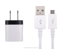 High Quality 2.1A US plug Wall Charger adapter Cable Micro USB For Samsung Galaxy S4 I9500 S3 I9300 note 2
