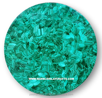 Malachite Coffee Table Top, Handmade Marble Malachite Table
