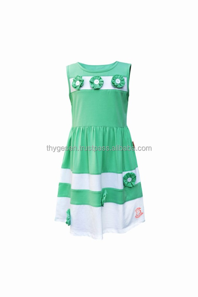 Light weight Girl Dress with pattern