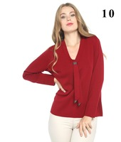 women stone tie accessories red color sweater