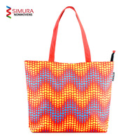 Tote Bag with Dot Pattern Screen Print