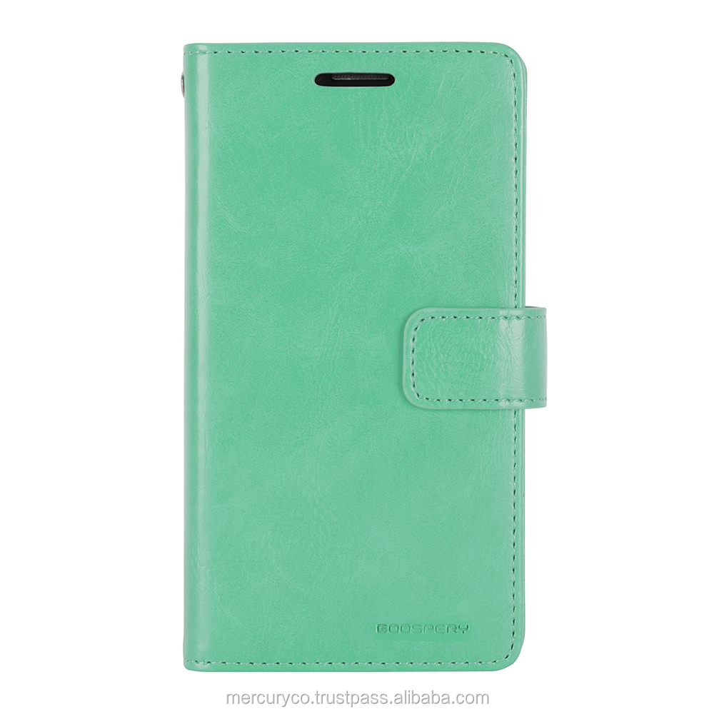 PU leather diary phone case Mercury Mansoor Diary (Mint)